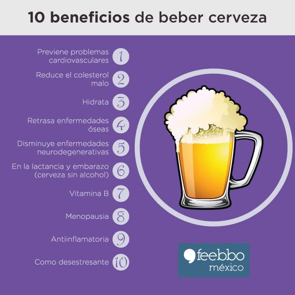 10 beneficios de beber cerveza